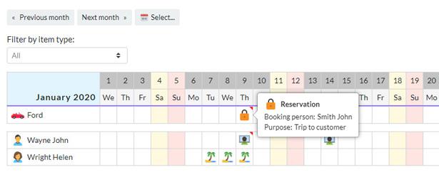 Your Calendar - Universal multi-functional calendar. Team, rental, multipurpose calendar. - 3