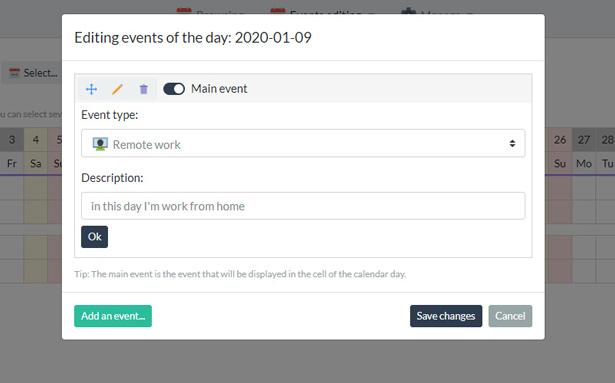 Your Calendar - Universal multi-functional calendar. Team, rental, multipurpose calendar. - 4